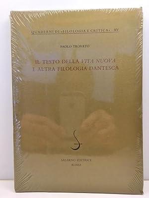Il testo della Vita nuova e altra: Trovato, Paolo