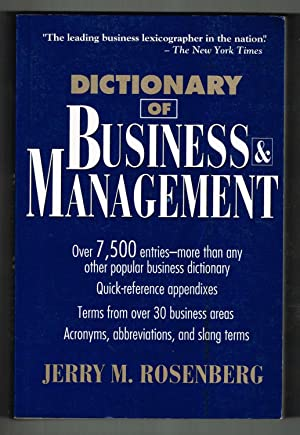 Dictionary of Business and Management (Business Dictionary Series)
