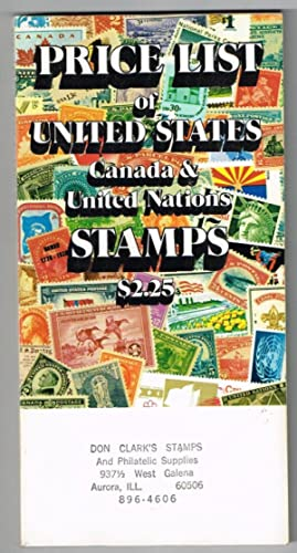 Comprehensive Price List of United States Stamps Including Confederate States & U. S. Pocessions;...