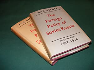 THE FOREIGN POLICY OF SOVIET RUSSIA Volume: BELOFF, Max