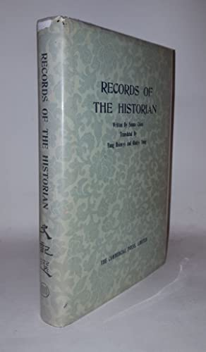 RECORDS OF THE HISTORIAN: CHIEN Szuma, HSIEN-YI