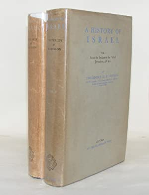 A HISTORY OF ISRAEL Volume I From: ROBINSON Theodore H.,