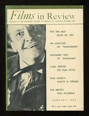 Films in Review (January 1952) [cover: Fredric March in DEATH OF A SALESMAN]