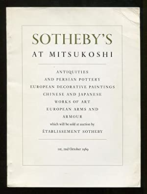 Sotheby's at Mitsukoshi: 1st, 2nd October 1969