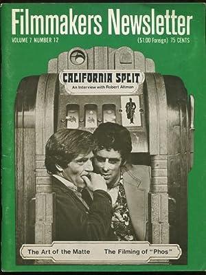 Filmmakers Newsletter (October 1974) [cover: CALIFORNIA SPLIT]: Mallow, Suni, and