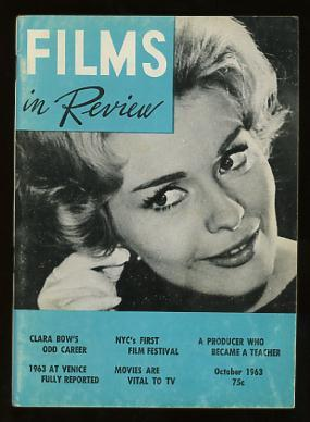Films in Review (October 1963) [cover: Jean Seberg in IN THE FRENCH STYLE]