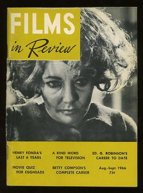 Films in Review (August-September 1966) [cover: Elizabeth Taylor in WHO'S AFRAID OF VIRGINIA WOOLF?]