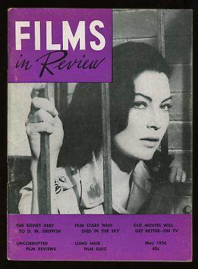 Films in Review (May 1956) [cover: Ava Gardner in BHOWANI JUNCTION]