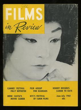 Films in Review (June-July 1962) [cover: Shirley MacLaine in MY GEISHA]