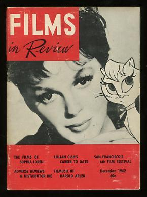 Films in Review (December 1962) [cover: Judy Garland and the animated character she voiced in GAY...