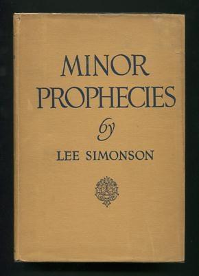 Minor Prophecies [*SIGNED*]: Simonson, Lee