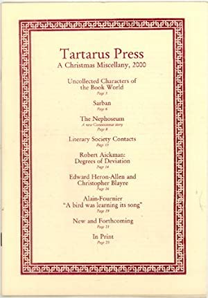 TARTARUS PRESS: A CHRISTMAS MISCELLANY: Russell, Raymond, and Rosalie Parker, eds.