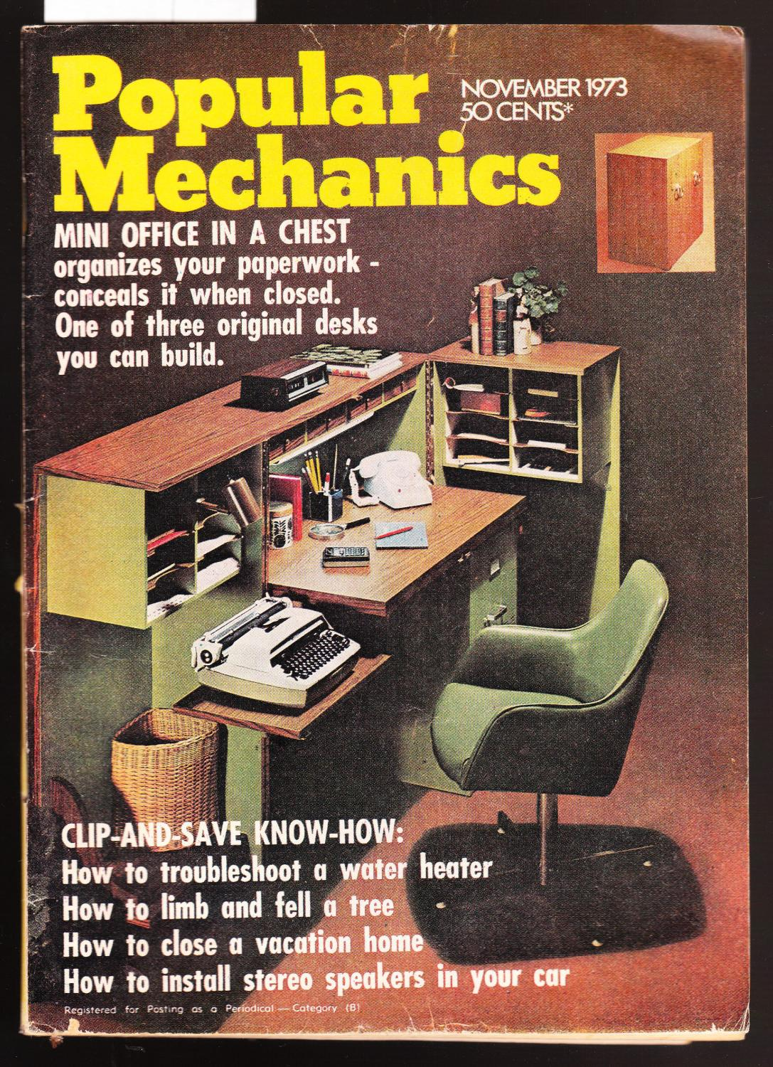 Popular Mechanics Magazine November 1973 By Popular Mechanics Yaffa