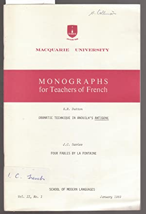 Macquarie University Monographes for Teachers of French: Dutton, K. R.