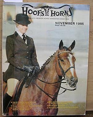 Hoofs and Horns Magazine November 1986: Williams, R. M.
