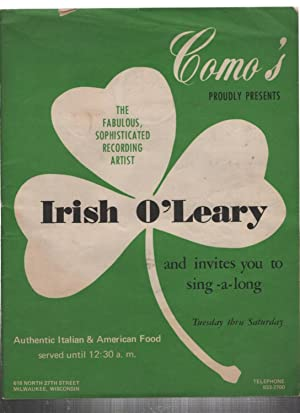 Como's Proudly Presents The Fabulous, Sophisticated Recording: O'leary, Irish