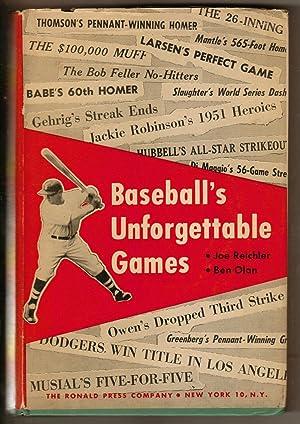 Baseball's Unforgettable Games: Reichler, Joe and