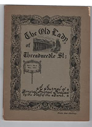 The Old Lady on Threadneedle St: Volume 1 Number 4, December 1921