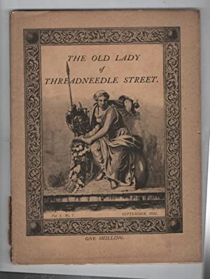 The Old Lady on Threadneedle Street : Volume 1 Number 7. September 1922