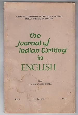 The Journal of Indian Writing in English: GUPTA, G.S. BALARAMA