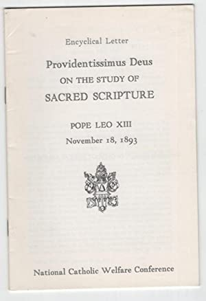 Encyclical Letter: Providentissimus Deus: On the Study: Pope Leo XIII
