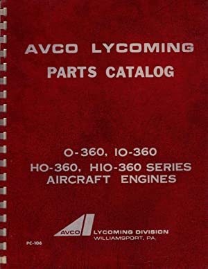 Lycoming O-145 /& GO-145 Handbook of Instructions with Parts Catalog