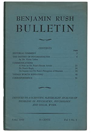 The Benjamin Rush Bulletin Vol I No. 3