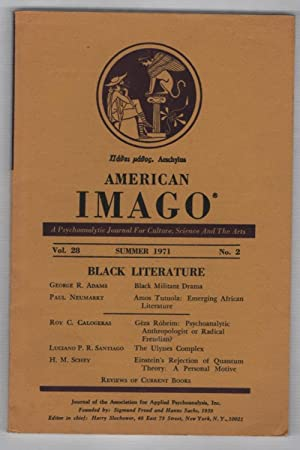 American Imago Summer 1971 Volume 28 No. 2