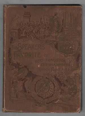 The Speaker's Favorite or Best Things for: Fenno, Frank H.