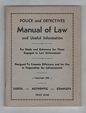 Police Detectives Manuel of Law and Useful: MacKett, Frank, L.