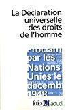 La déclaration universelle des droits de l'homme: Collectifs
