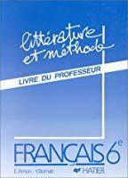 Francais 6e Professeur Ancien Ou D Occasion Abebooks