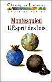De l'esprit des lois (choix de textes): Montesquieu