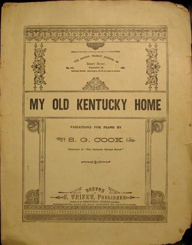 My old kentucky home the boston weekly journal of sheet for Vintage house music