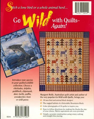 Go Wild With Quilts-Again! 10 New Bird /& Animal Designs