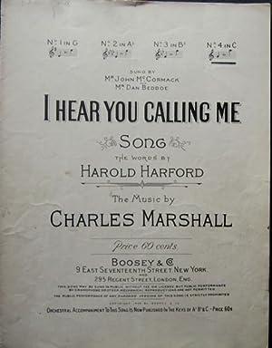 I Hear You Calling Me Antique Sheet: Harford, Harold [words];