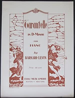 Tarantelle in D Minor Sheet Music: Levin, Barnard