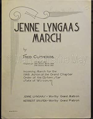 Fred Clitheroe: Jenne Lyngaas March for Piano Solo Sheet Music (Incoming March for the 1948 Session...