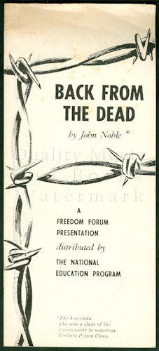 Back from the Dead: A Freedom Forum Presentation: Noble, John