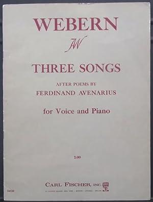 Three Songs After poems by Ferdinand Avenarius: Webern, Anton von;