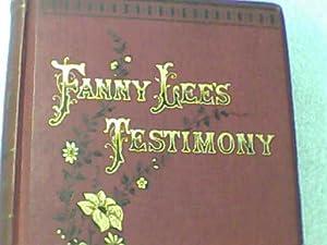 Fanny Lee's Testimony: a Yorkshire Tale: Mrs Hanson