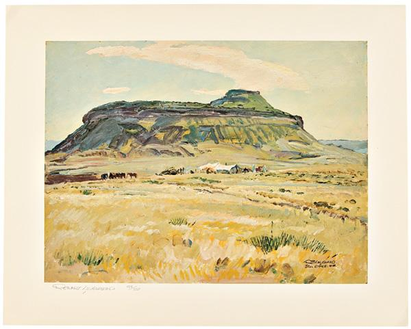 [PRINT OF BELL RANCH IN NEW MEXICO].: Lougheed, Robert: