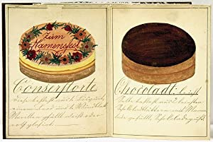MAGNIFICENT SERIES OF THIRTY-TWO GERMAN WATERCOLORS, CIRCA: German Pastries]: