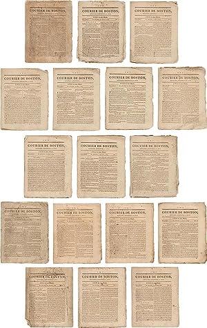 COURIER DE BOSTON, AFFICHES, ANNONCES, ET AVIS.: French American Newspaper]: