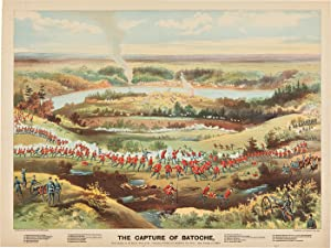 [THREE HANDSOME COLOR LITHOGRAPHS DEPICTING THREE OF THE MOST IMPORTANT BATTLES DURING THE NORTH-...