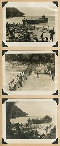 [ARCHIVE OF WORLD WAR II IN THE SOUTH PACIFIC, DEPICTED IN A SAILOR'S PHOTO ALBUM OF 431 BLACK AN...