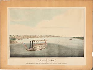 ST. LOUIS IN 1832. FROM AN ORIGINAL PAINTING BY GEO. CATLIN IN THE POSSESSION OF THE MERCANTILE L...