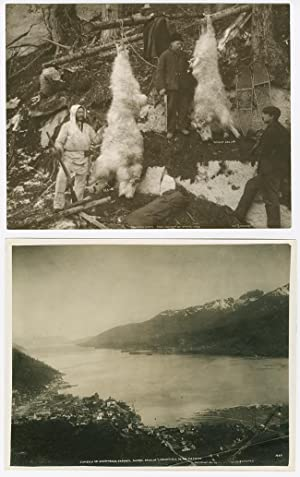 [TWO LARGE, ATTRACTIVE ALASKAN IMAGES BY EARLY 20th-CENTURY PHOTOGRAPHERS CASE & DRAPER]