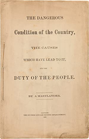 THE DANGEROUS CONDITION OF THE COUNTRY, THE CAUSES WHICH HAVE LEAD TO IT, AND THE DUTY OF THE PEO...