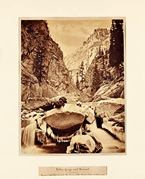 TOLTEC GORGE AND TUNNEL. (SAN JUAN MOUNTAINS.) DENVER AND RIO GRANDE RAILWAY - THE SCENIC LINE OF...